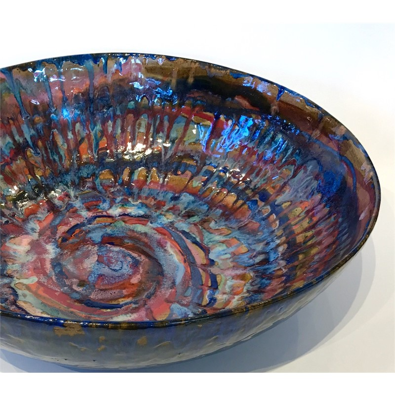 Candle-drip Bowl--Blue, 2019