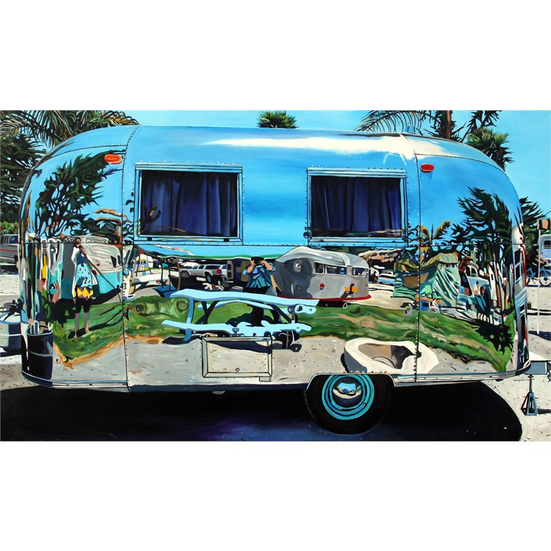 Angie and Taralee Airstream, Pismo Beach by Taralee Guild