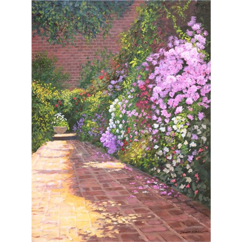 Charleston Spring Courtyard by Douglas Grier