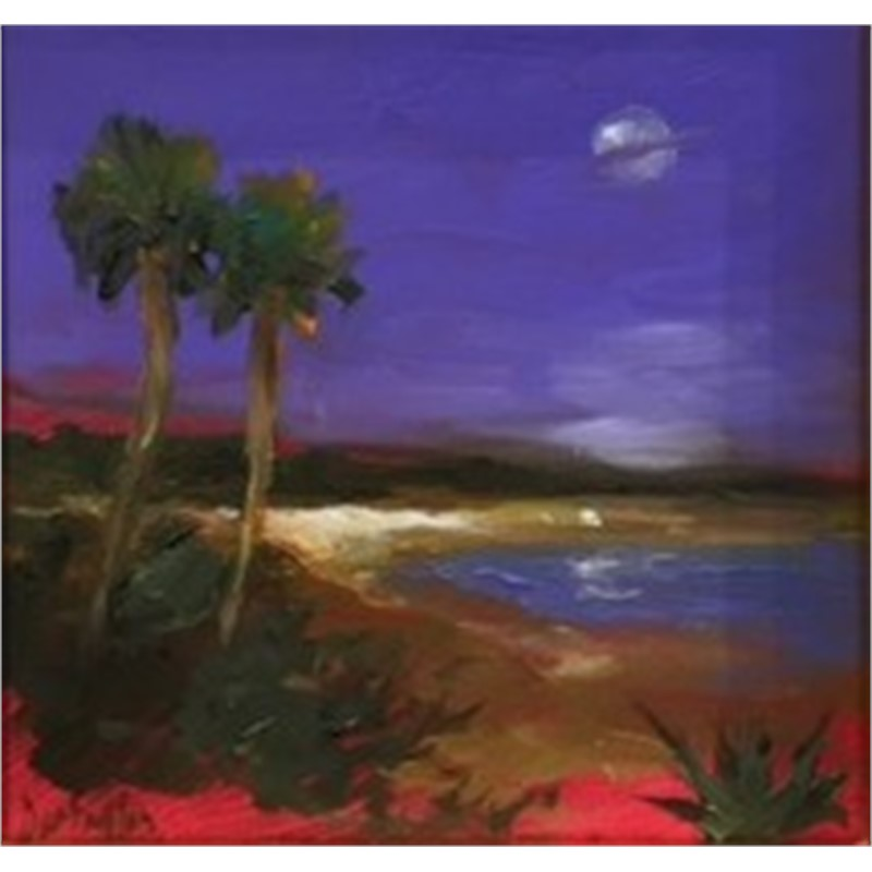 Violet Sky Over the Island