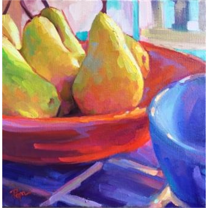 Pears and Red Bowl, 2019