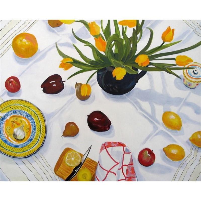Yellow Tulips & Fruit