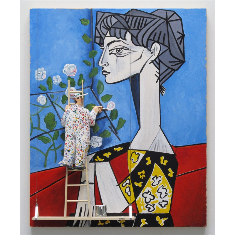 Jacqueline with Flowers (Picasso), 2019