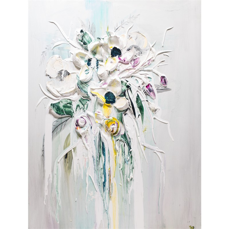 ABSTRACT FLORAL BOUQUET AFB40X30-2019-002, 2019