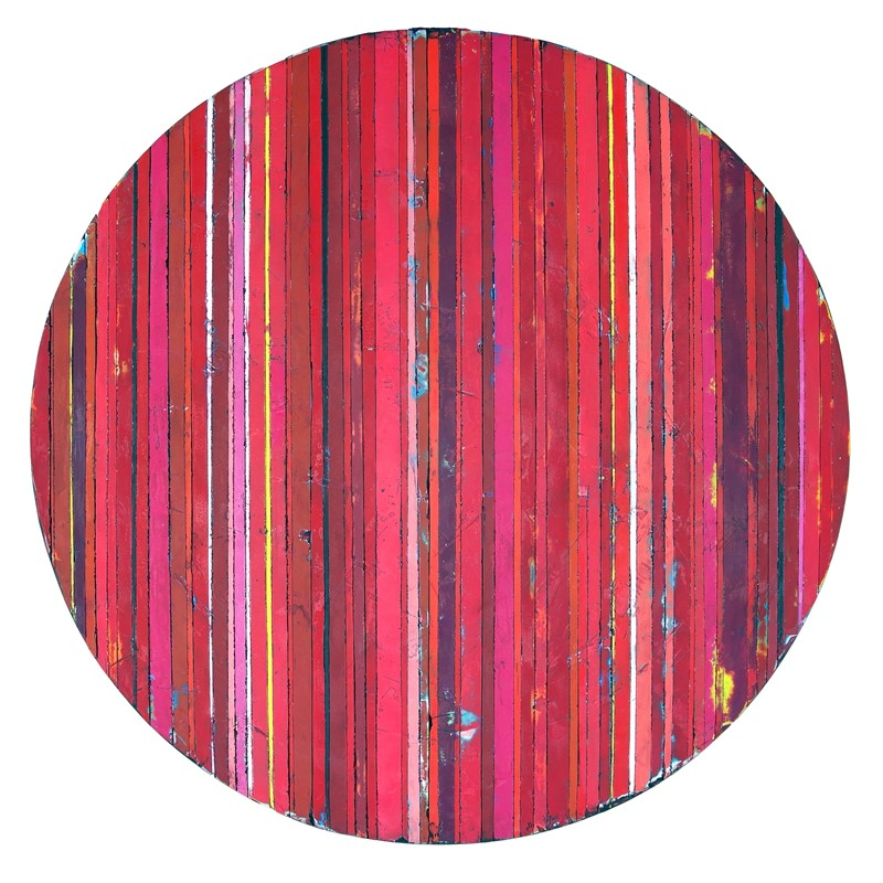 Disc Like Object, Red 48, 2019