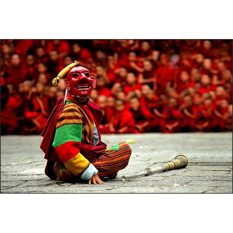 Masked Dancer at Tsechu Festival, 2007