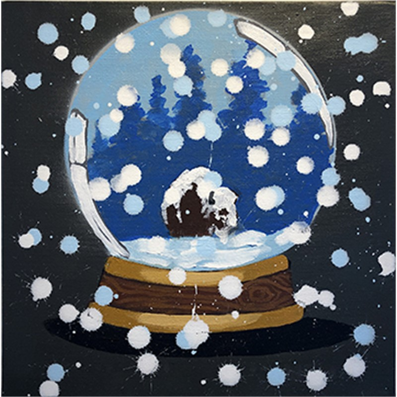 SNOW GLOBE SERIES: WELCOME TO NATIVE AMERICA, NOW GO HOME, 2018
