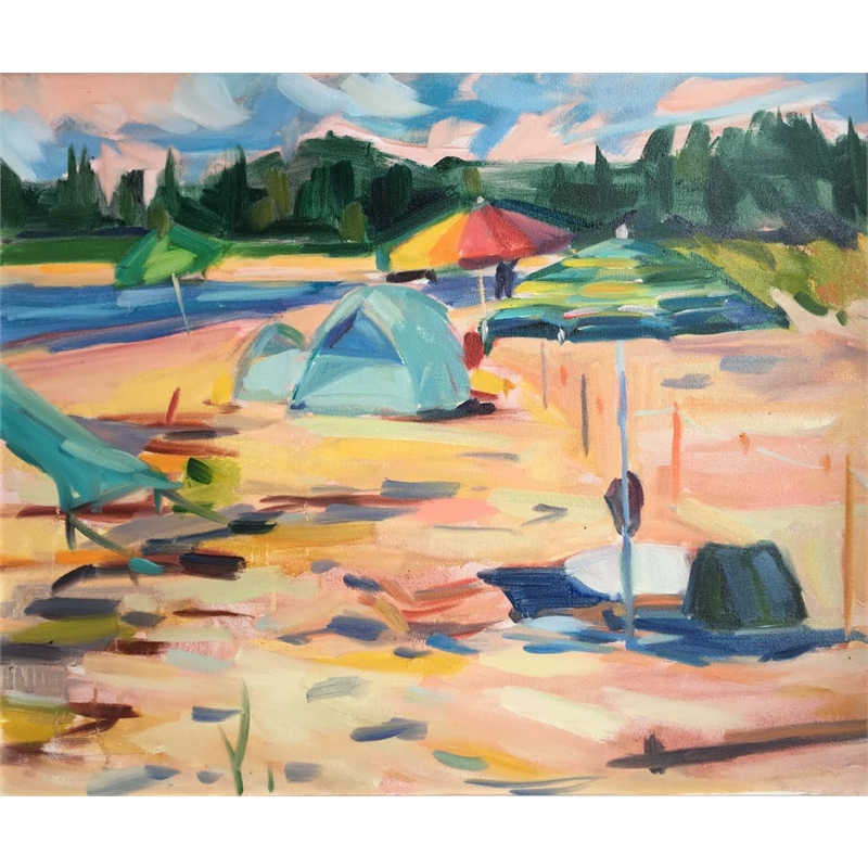 Popham Beach Umbrellas