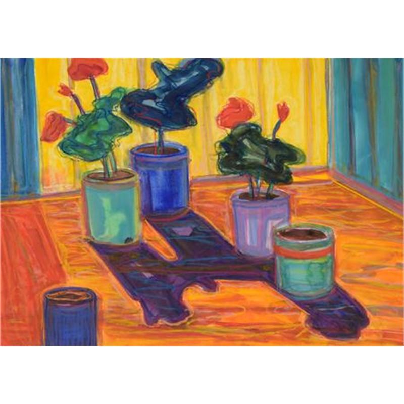 Geraniums & Five Pots