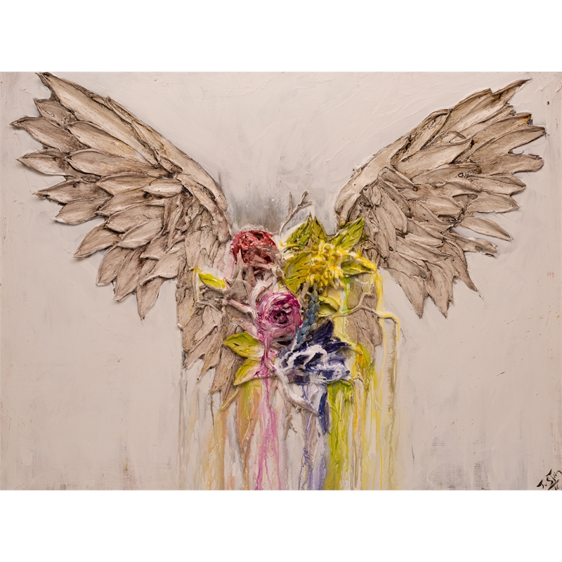 (SOLD) FLORAL WINGS FL-40X30-2019-343, 2019