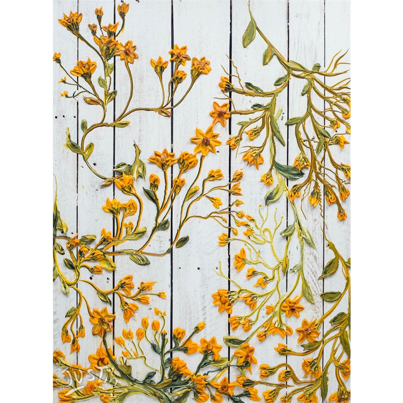 FALLING WILDFLOWERS ON PALLET PANELS