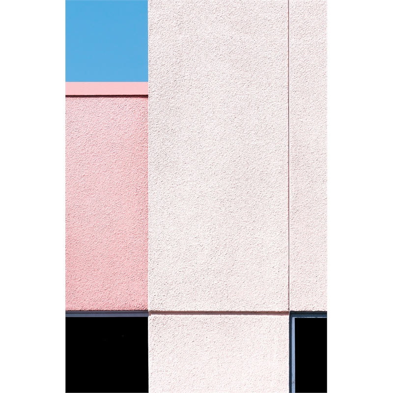 Pink with Black and Blue (2/8), 2019