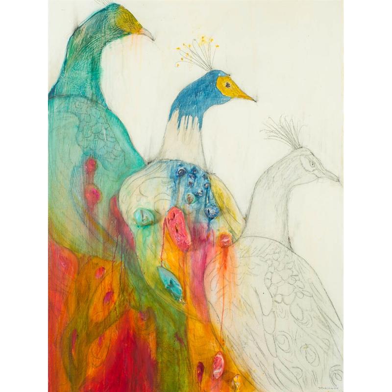 PEACOCK STUDY by JUSTIN GAFFREY