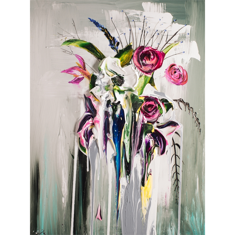 ABSTRACT FLORAL BOUQUET AFB24X32-2018-2.75NF HPAE 4/50 (4/50), 2018