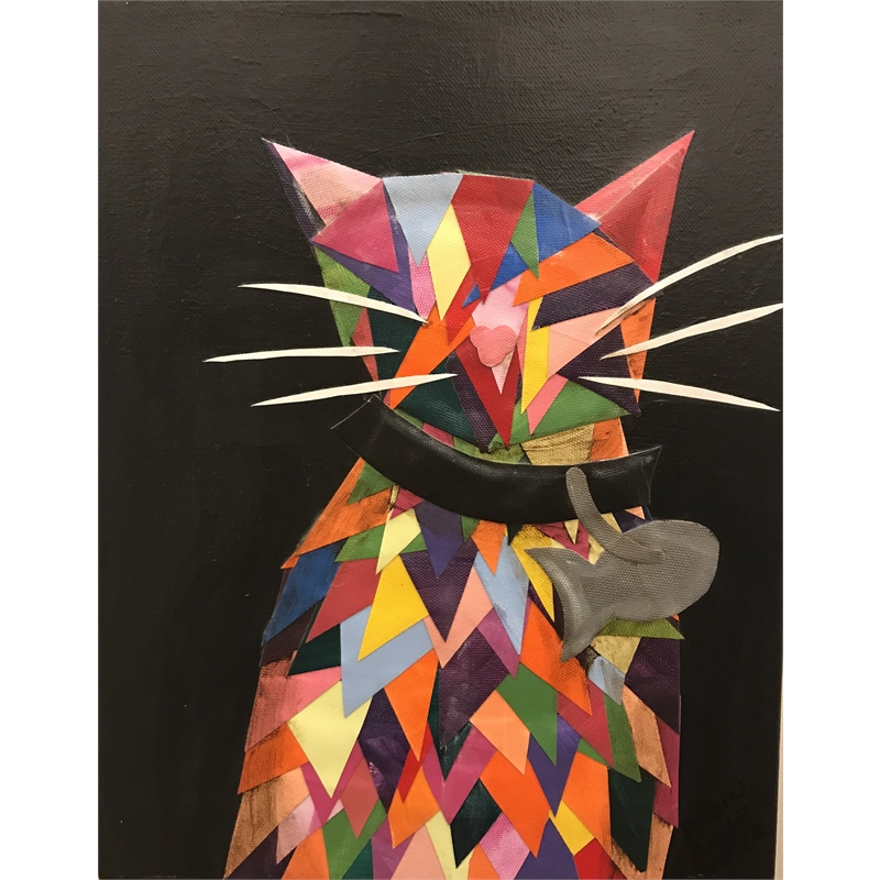 Rainbow Calico Cat by Robin Cooper