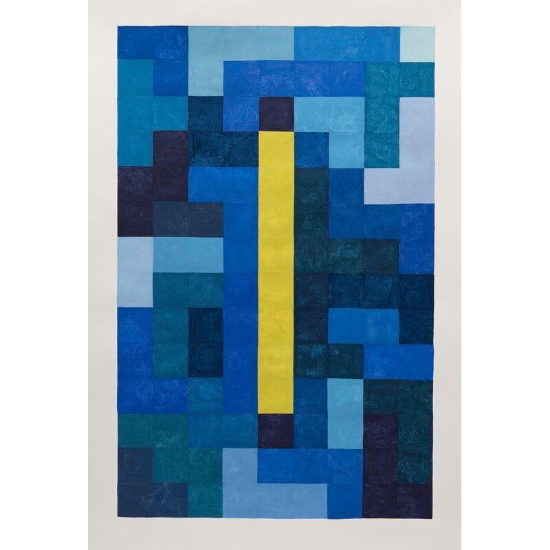 Blue Tetris Type Linden Bar