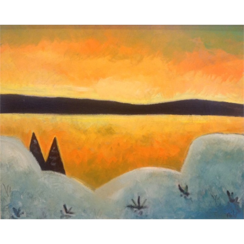 Winter Sunset Hog Bay