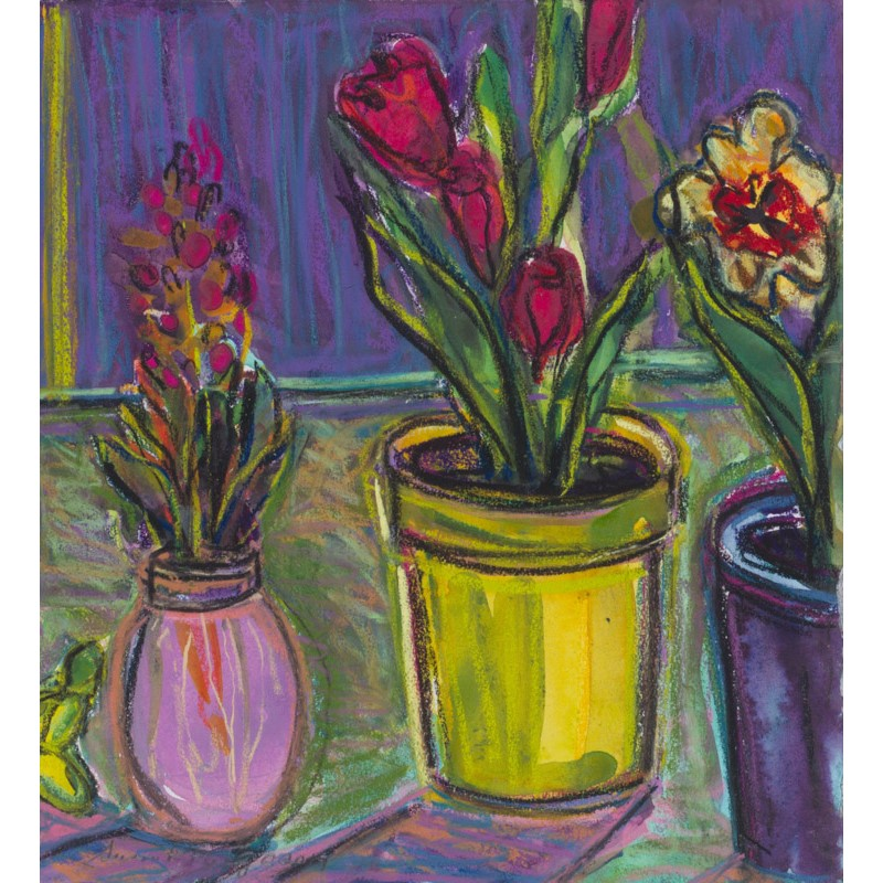 Hyacinth and Tulips I