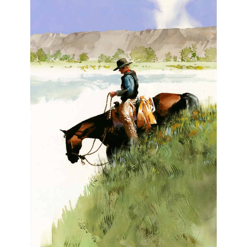 Grassy Slope (Rider on a steep hill)