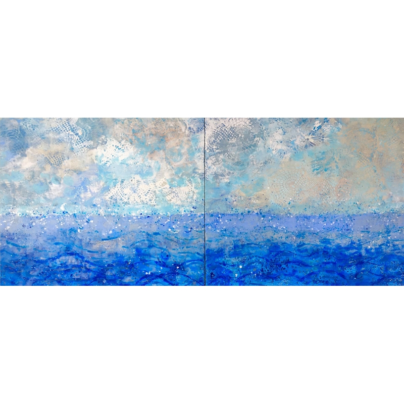 Sea and Sky #4 Diptych