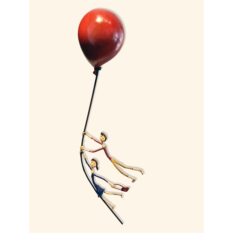 Couple on a Red Balloon (Painted), 2019