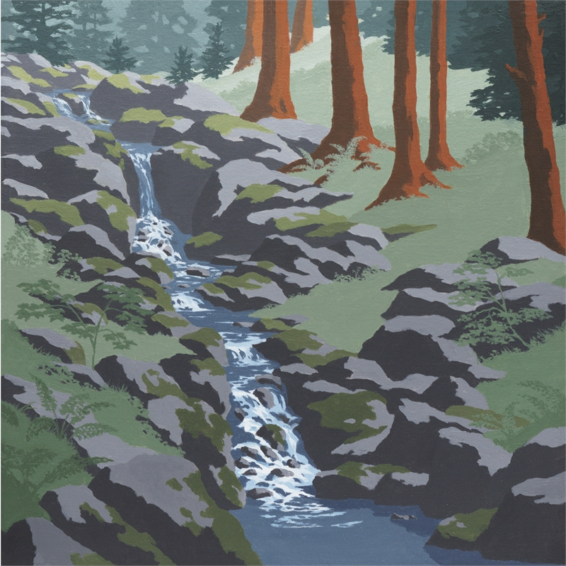 Cascading Brook (2 of 3 in Triptych)