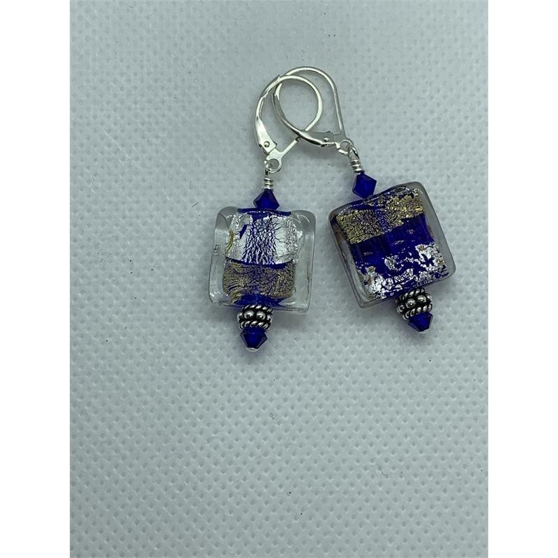 Cobalt Blue on Sterling Earring by Shoshannah Weinisch