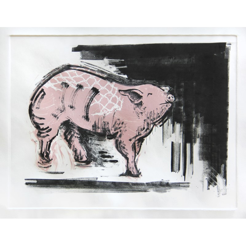 No. 1 Pink Pig with White Lace