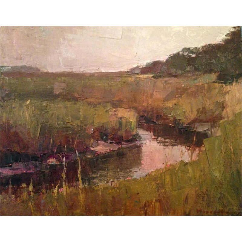 Marsh in Ochre Tones