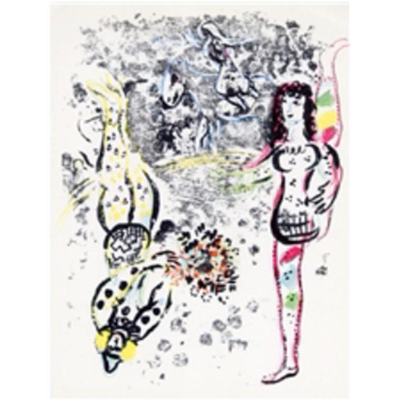 Le Jeu de Acrobats from Chagall Lithographs I, 1960