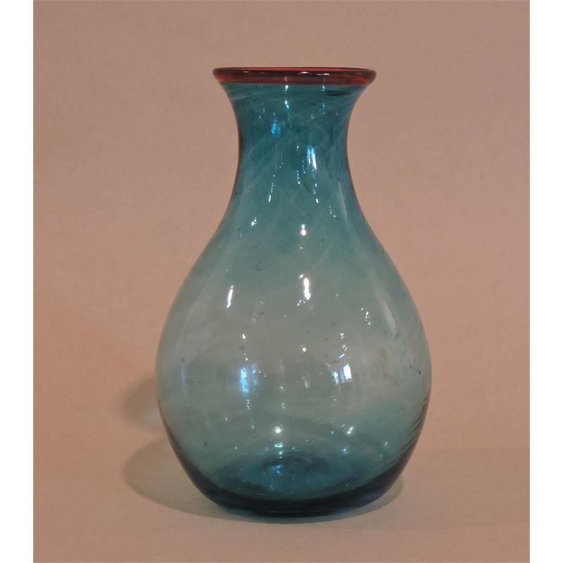 Turquoise/Red bud vase