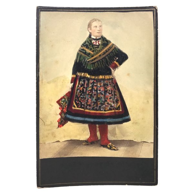 Hungarian Painted Cabinet Card 9, Circa 1880s