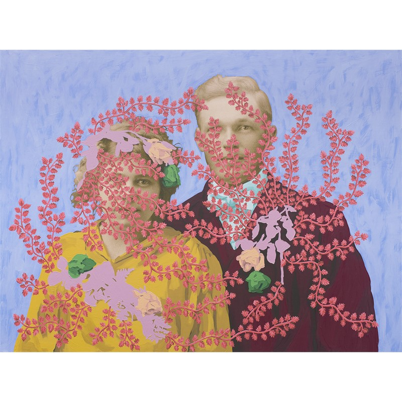 Untitled (Wedding Portrait with Flowers), 2018