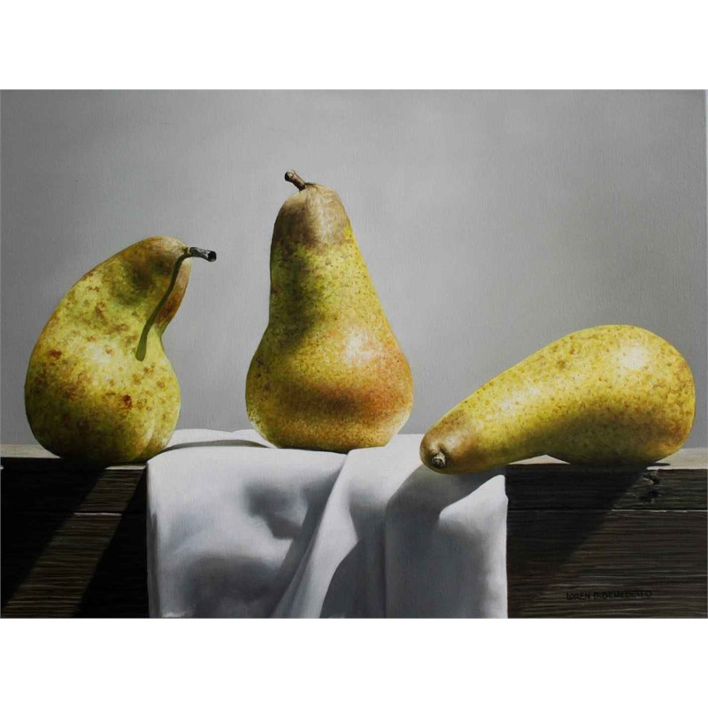 Pears and Green Cloth