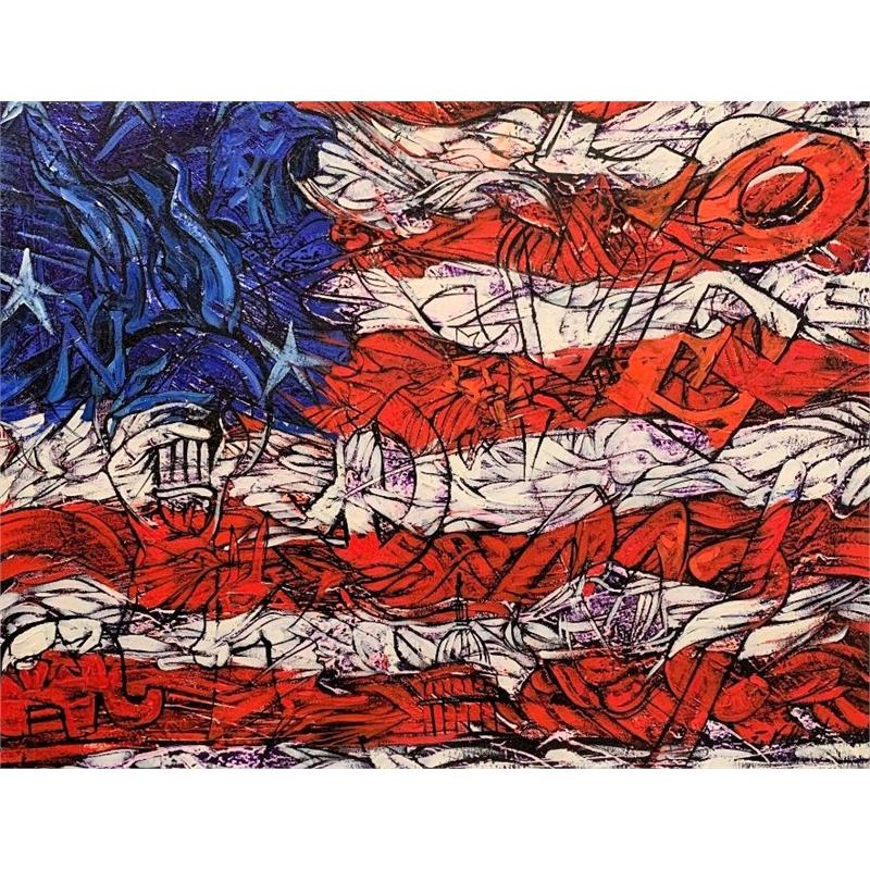 USA Flag by Fredy Villamil