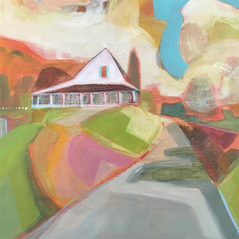 White farmhouse with aqua shutters, Winkler's Creek Boone, NC, 2020