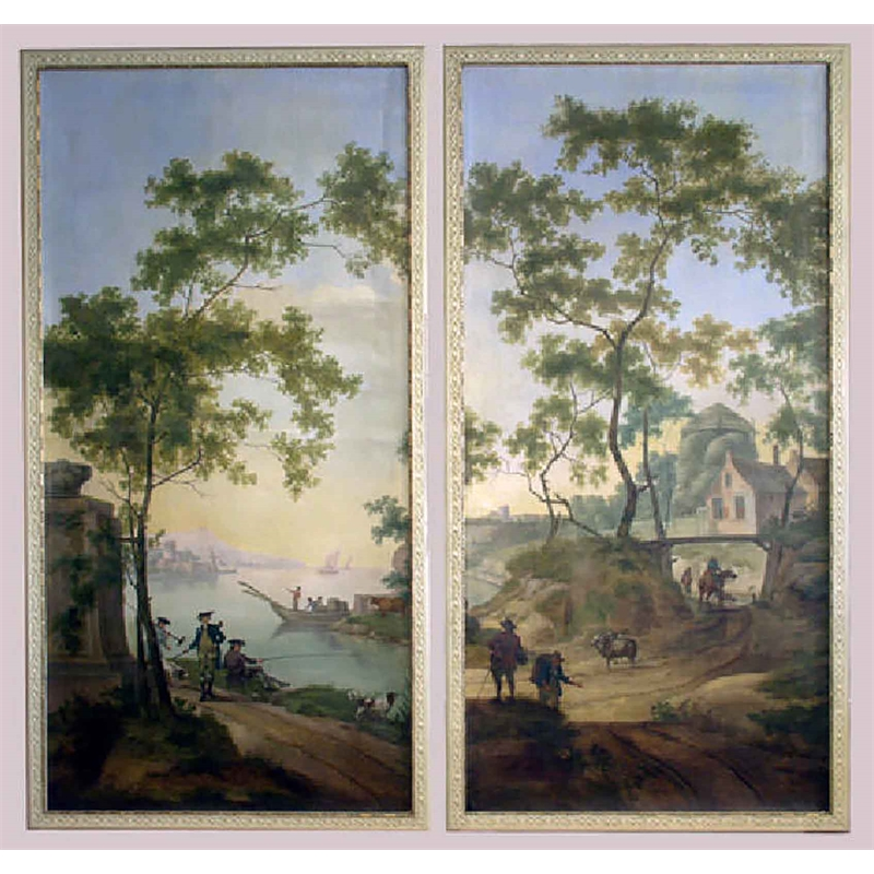 PAIR OF LANDSCAPE PAINTINGS , Dutch, 18th century