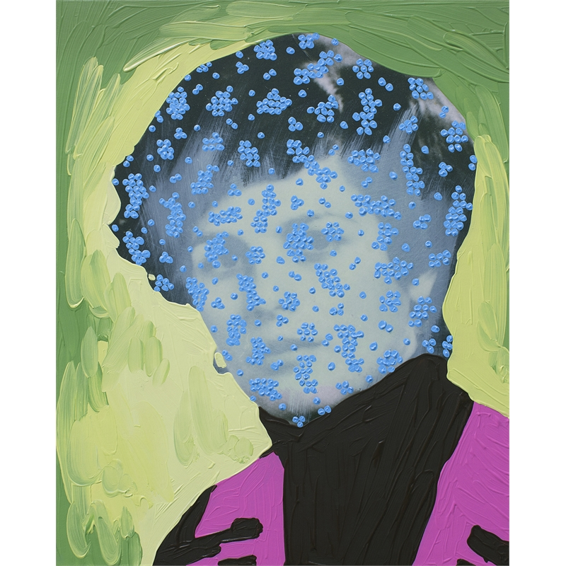 Untitled (Green Woman with Blue Dots) by Daisy Patton