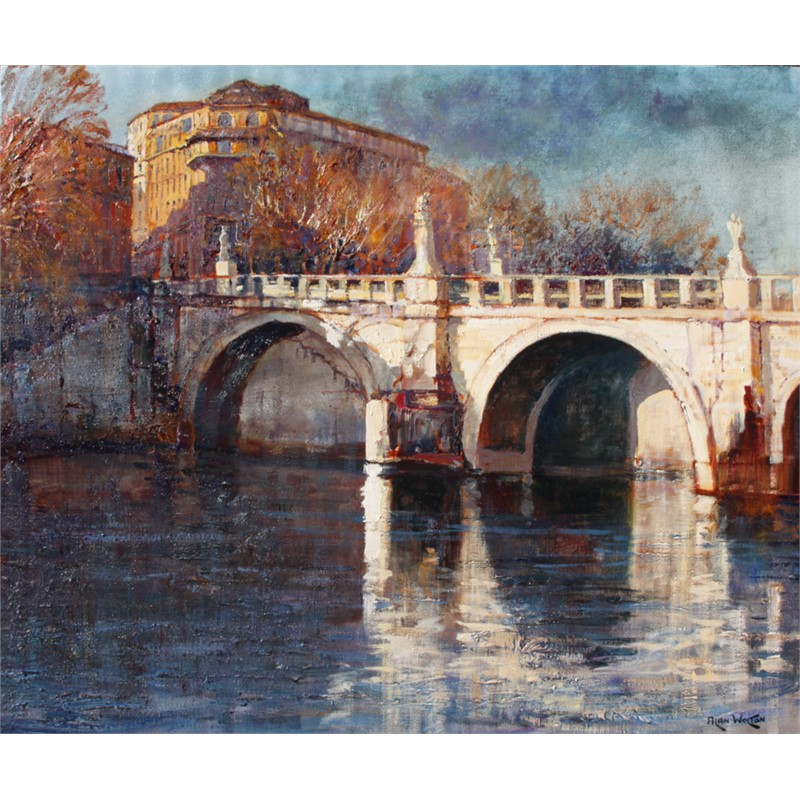 Angel's Bridge on the Tiber by Alan Wolton