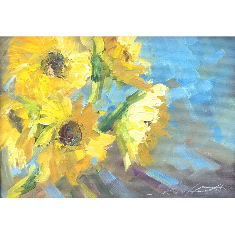 Sunflowers in the Gallery