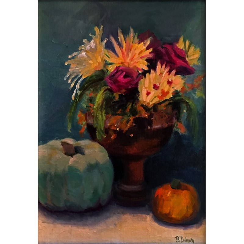Floral with Pumpkins
