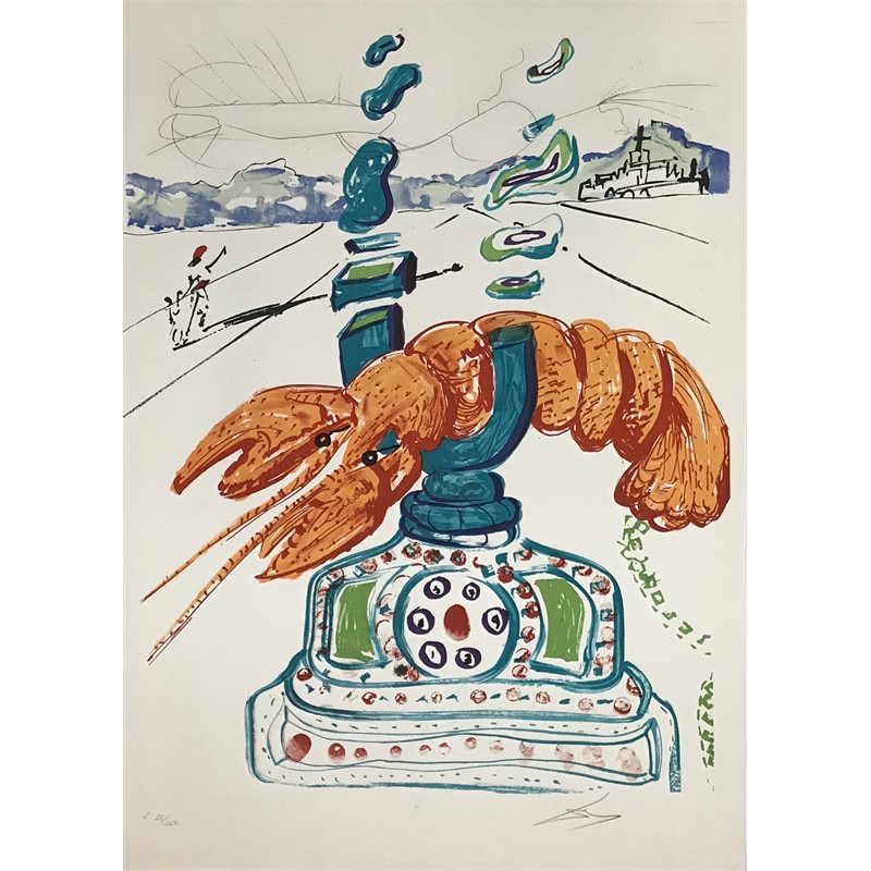 Cybernetic Lobster Telephone (250/36), 1975