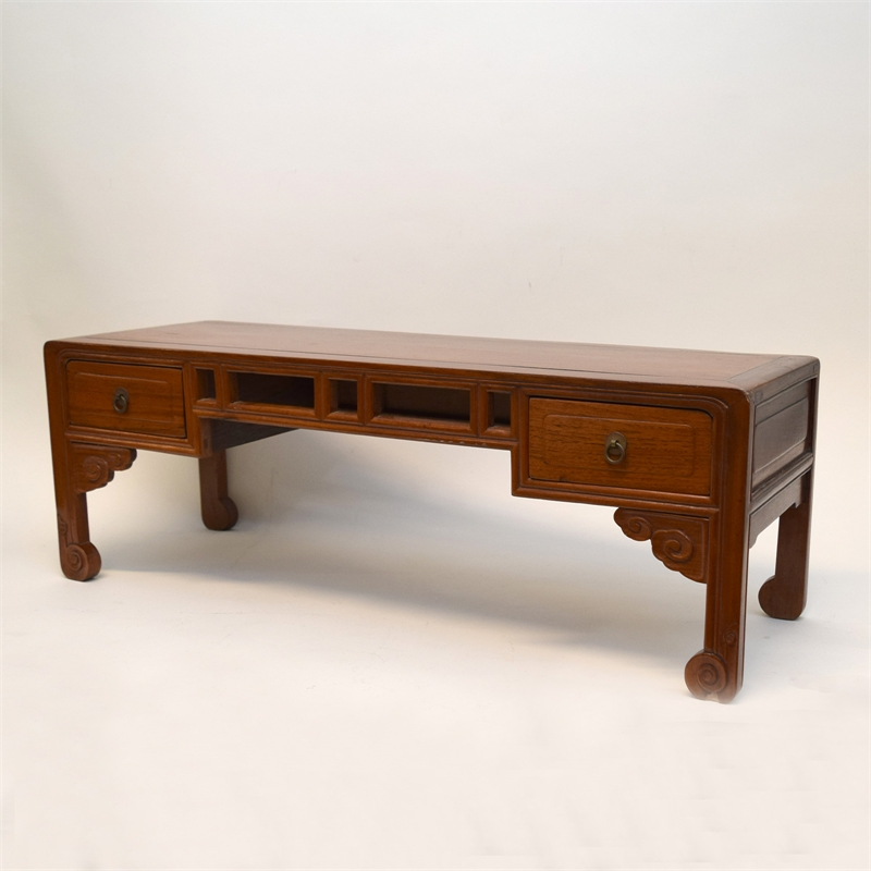 PAIR OF CHINESE HARDWOOD LOW TABLES, Chirnse, 19th/20th century