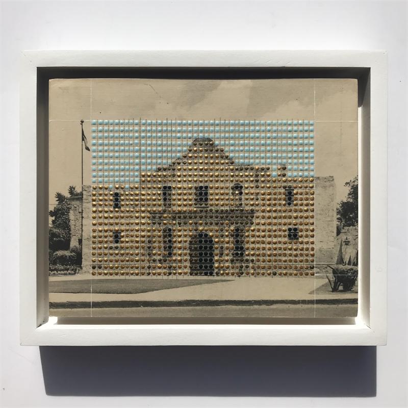 Borrowed Landscapes Study No.163/ TX, San Antonio, The Alamo (in gold), 2018