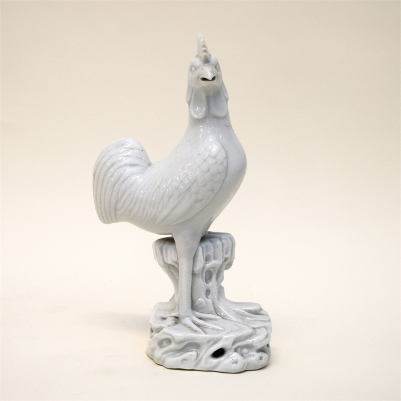 BLANC DE CHINE FIGURE OF A COCKEREL, Chinese, Qing Dynasty, 18th century
