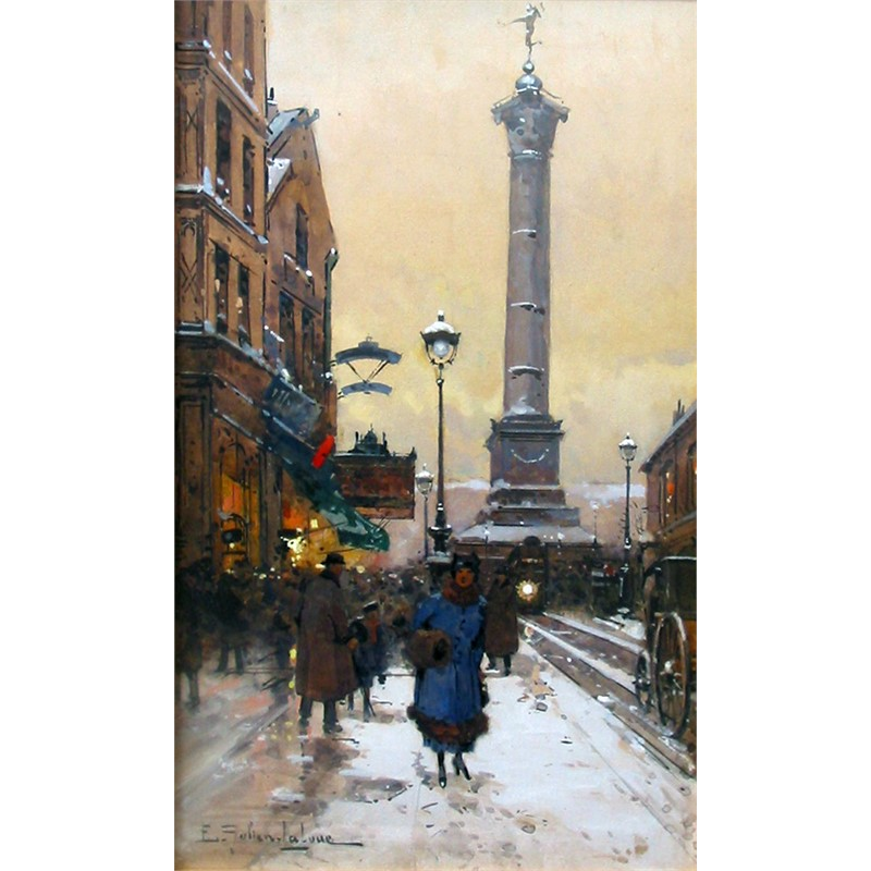 PLACE DE LA BASTILLE IN SNOW