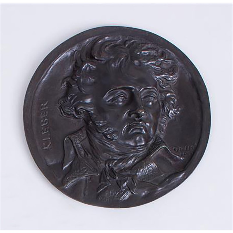 BRONZE RONDEL OF KLEBER, French, 1831