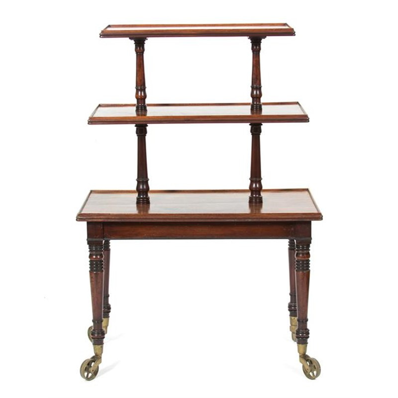WILLIAM IV WALNUT WHAT-NOT, English, 19th century