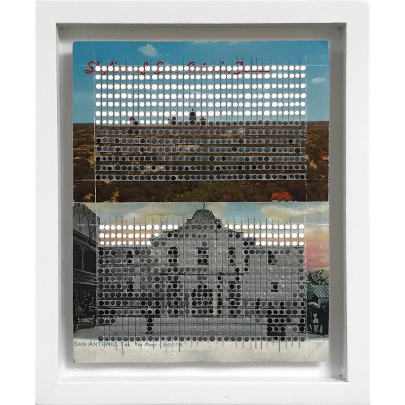Borrowed Landscapes Study No.43 & 44/Texas, San Antonio Skyline & The Alamo, 2017