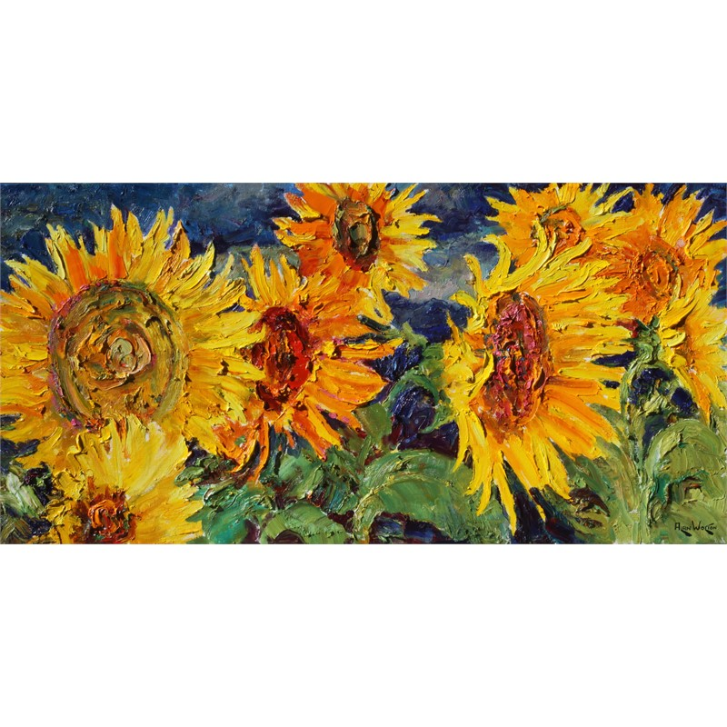 Glorious Sunflowers by Alan Wolton